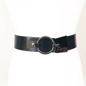 Black leather belt size Large